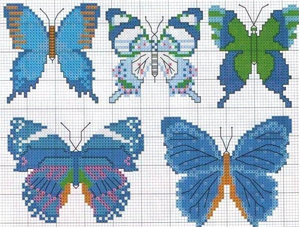 cross stitch chart butterflies
