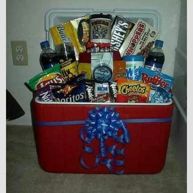 Cooler Gift Basket Gift Ideas Pinterest Gift