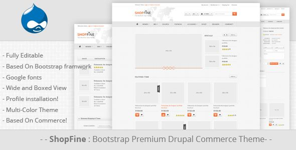 Shopfine - Drupal Commerce Theme