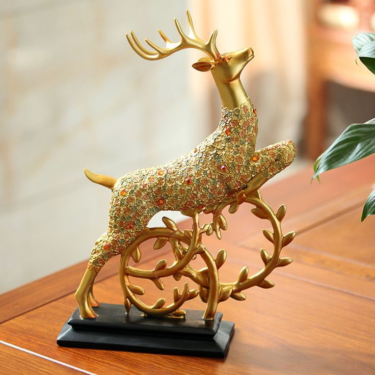 Aliexpress.com : Buy Style 2 Elegant Lucky Deer Resin Ornaments Home/Office…