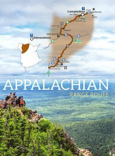APPALACHIAN RANGE ROUTE | 400-million-year-old mountains shape a landscape where being outdoors is a way of life. Adventure beckons as you journey along world-class waterways and through magnificent parks. Stop for a canoe ride, a hike, a bike ride or a stay. Unspoiled vistas will meet you every step of the way. (278 km / 172 mi.)