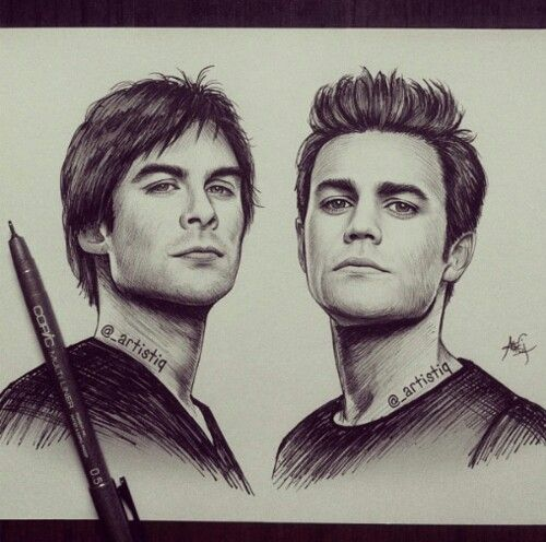 Vampire diaries drawing cool drawing drawings - Vampire diaries dessin ...