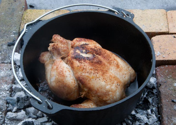 Roasting a chicken in ...