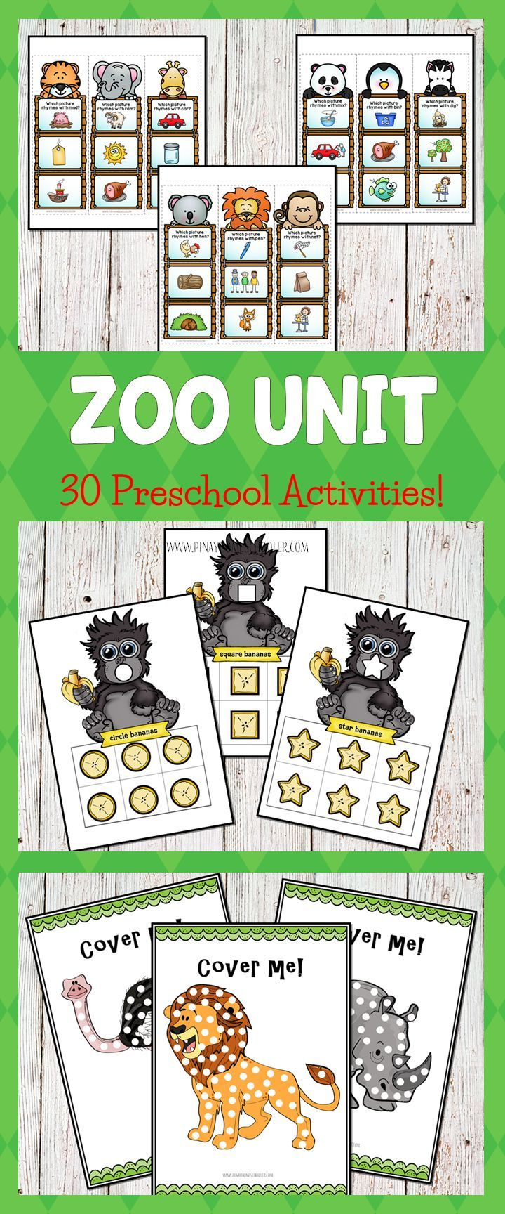 This Zoo Preschool Learning Pack Math Literacy Centers Is A Collection Of 30 Fun And Engaging Activitie Zoo Preschool Zoo Activities Safari Animals Preschool [ 1728 x 720 Pixel ]