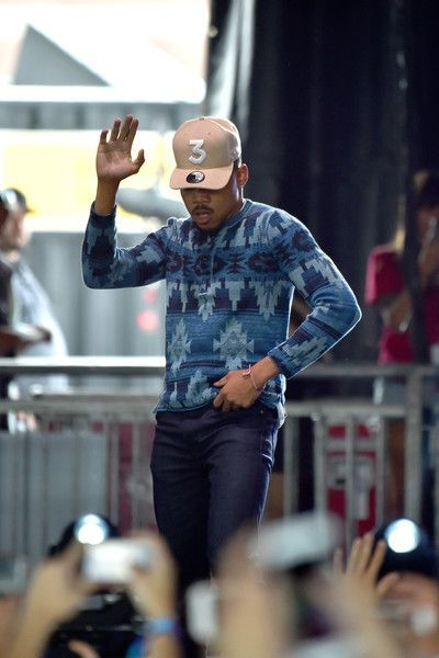 Chance the Rapper Photos Photos - Chance The Rapper performs with Francis & the Lights onstage during the 2017 Governors Ball Music Festival - Day 1 at Randall's Island on June 2, 2017 in New York City. - 2017 The Governors Ball Music Festival - Day 1