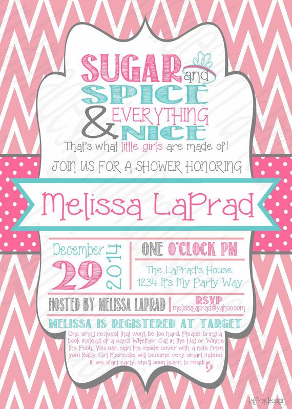 25+ best ideas about sugar and spice on pinterest | spoons and, Baby shower invitations