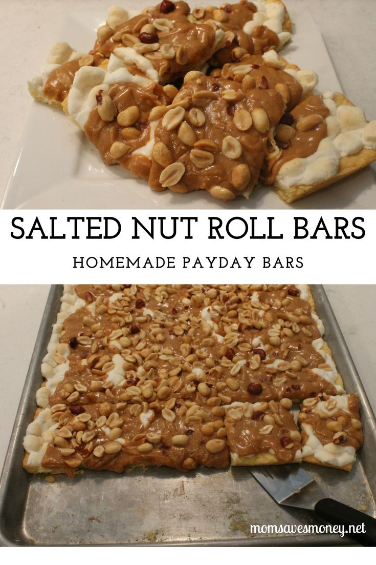 Salted Nut Roll Bars (aka: Homemade Payday Bars!)  - SO delicious!
