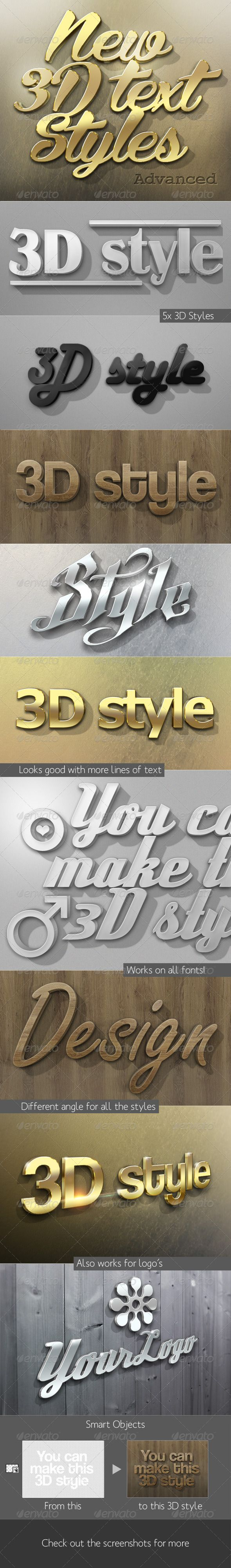 Mysterious poster design with 3d text - New 3d Text Styles Advanced