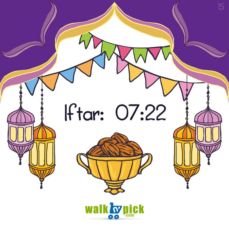 Today's Iftar Time for Karachi and adjoining areas is 7:22pm #RamadanDay15 #Karachi #IftarTime