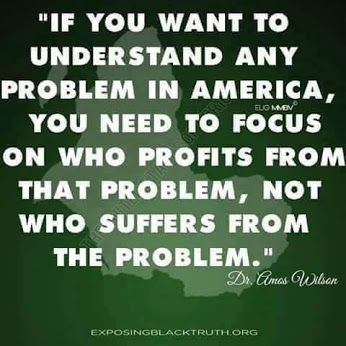 Follow the Money Trail Directly to the Source of the Problem and See Who Benefits From It !!!