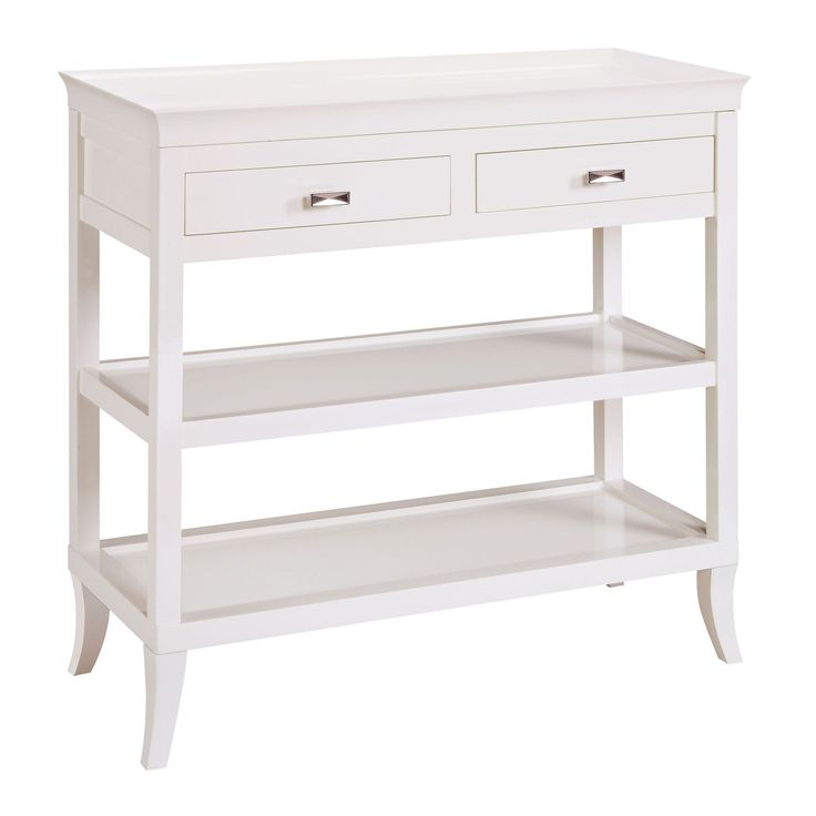 Tamara Hall Side-Serving Table in White