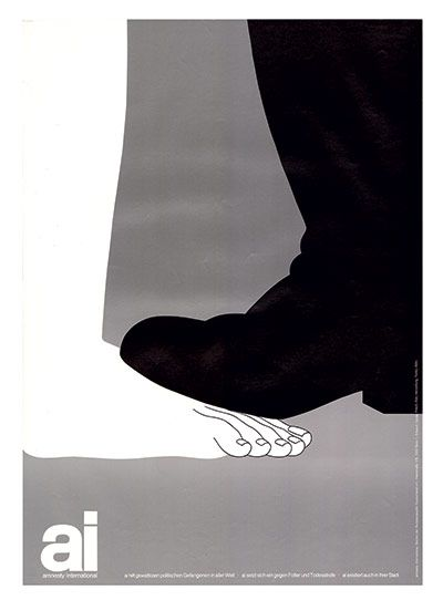 Political prisoners, the world over, 1981 (Germany) General Amnesty poster