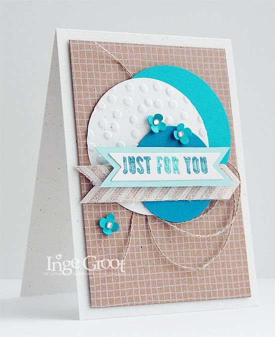 Stampin' Cards And Memories Hip Hip Hooray card kit, with island indigo and pool and Bermuda