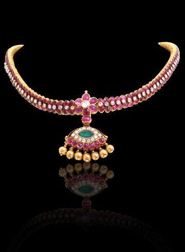 Antique Ruby Choker - Indian Jewellery Designs South Jewellery