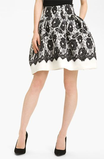black & white skirt
