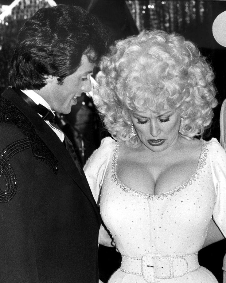 Dolly Parton with Sylvester Stallone n 1978