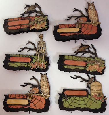 annes papercreations: Place Cards Tutorial featuring Graphic 45 Rare Oddities and Spellbinders dies by Anne Rostad