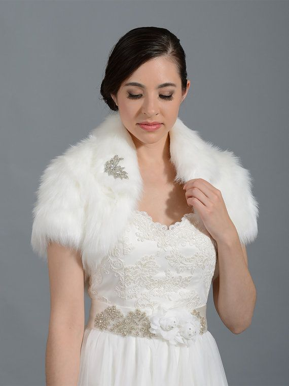 Hey, I found this really awesome Etsy listing at https://www.etsy.com/listing/62456375/ivory-faux-fur-bolero-faux-fur-shrug