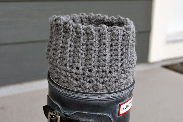 How to Crochet Boot Cuffs | the cuffs are easy to crochet if you like this project be sure to ...