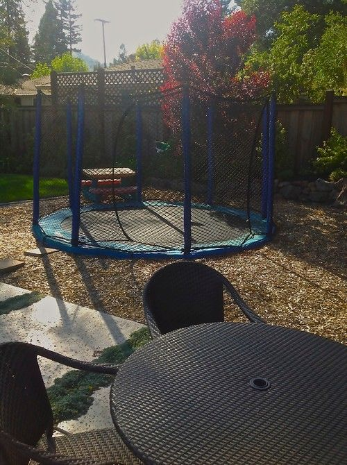 Design ideas for a mid-sized eclectic full sun backyard xeriscape for spring. — Houzzhttp://www.houzz.com/projects/281301/in-ground-trampolines