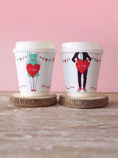 Creative Handmade ValentinesValentine'S Day, Ideas, Valentine Day Gift, Coffe Lovers, Coffe Cups, Coffee Cups, Coffecups, Cups Wrappers, Free Printables