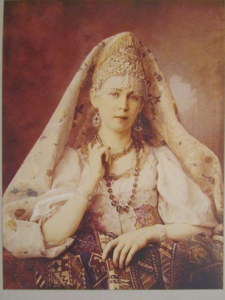 Карелин А.О., Портрет Чудновской, 1880-1890- е гг.,