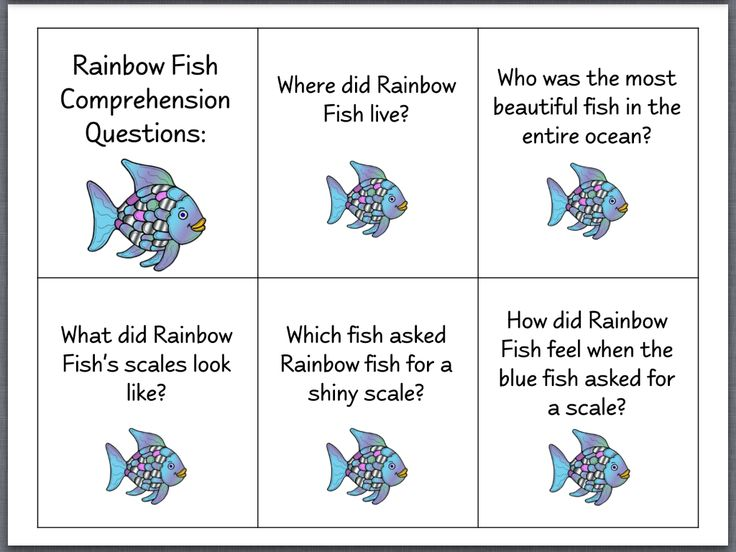 Let 39 s talk the rainbow fish page 2 activites based for Fish philosophy book
