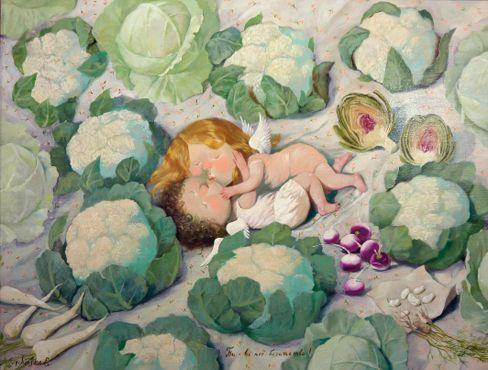 Неслучайно украинская художница Евгения Гапчинская называет себя поставщиком счастья. Ее работы с очаровательными человечками и ангелочками неизменно вызывают улыбку и самые теплые эмоции