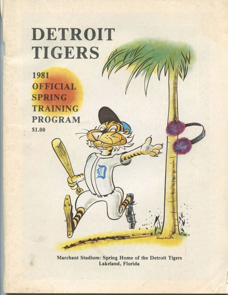 1981 DETROIT TIGERS SPRING TRAINING PROGRAM (56 PAGES, LOTS OF INFORMATION)