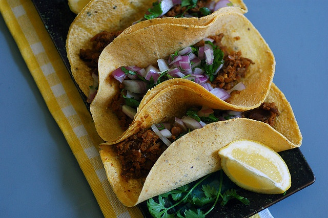 eggplant carnitas tacos - Found these a bit over salty, so cut the salt in half to start next time.
