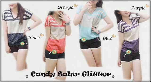 """Candy Salur Glitter"" Ready Stock (produksi terus) Harga Rp 41000 Bebas pilih warna (6 warna) Min 3pcs Ket: 2 warna lain di gambar terpisah"