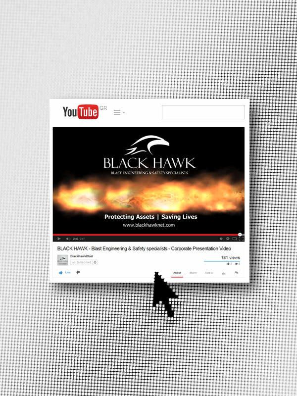 ThinkBAG designed the navigation of the video, created the concept and implemented the post production of the BLACK HAWK's corporate video (PPV).