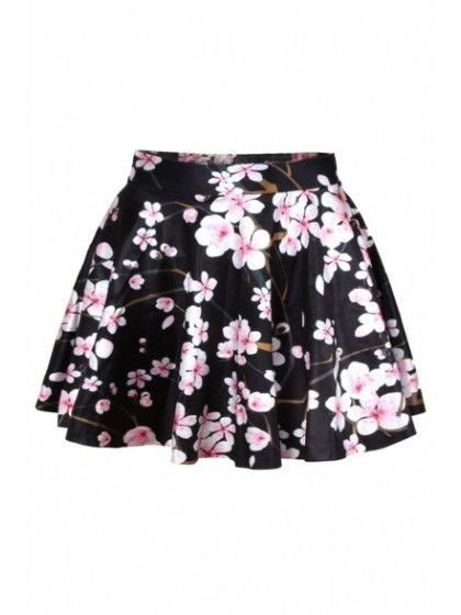 1cc5cda4dc New Arrival Floral Printed High Waist Mini A-Line Skirt #Chic340295 |  WithChic