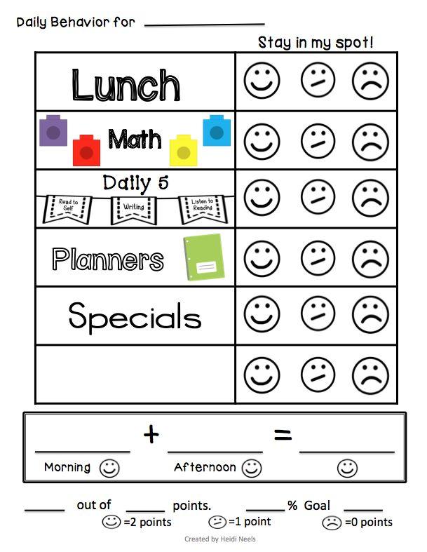 The  Best Classroom Behavior Plans Ideas On