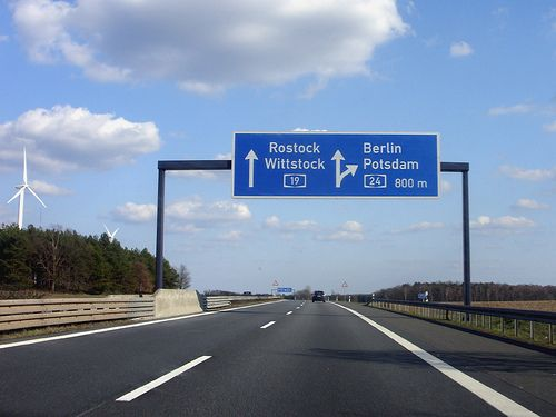 On the way to Berlin - Intersection Wittstock | Nix Rostock.… | Flickr - Photo Sharing!