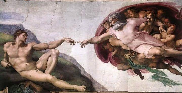 Michelangelo, A criação de Adão, Capela Sistina, Roma