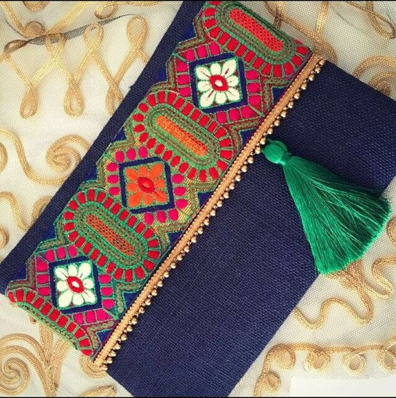 Boho bag ethnic clutch women bag christmas gift by BOHOCHICBYDAMLA