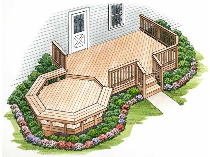Awesome Deck With Seating · Deck PlansPatio ...
