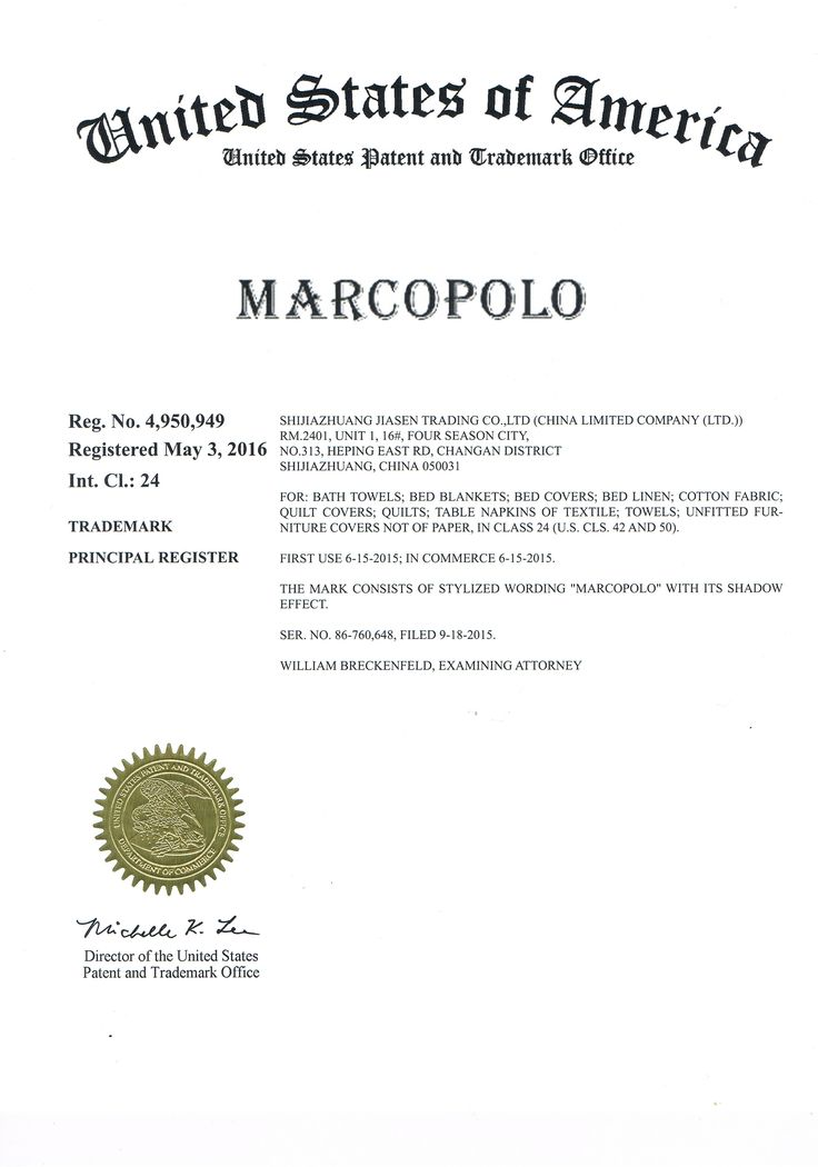 US trademark registration certificate for Ironridge Global - trademark attorney sample resume