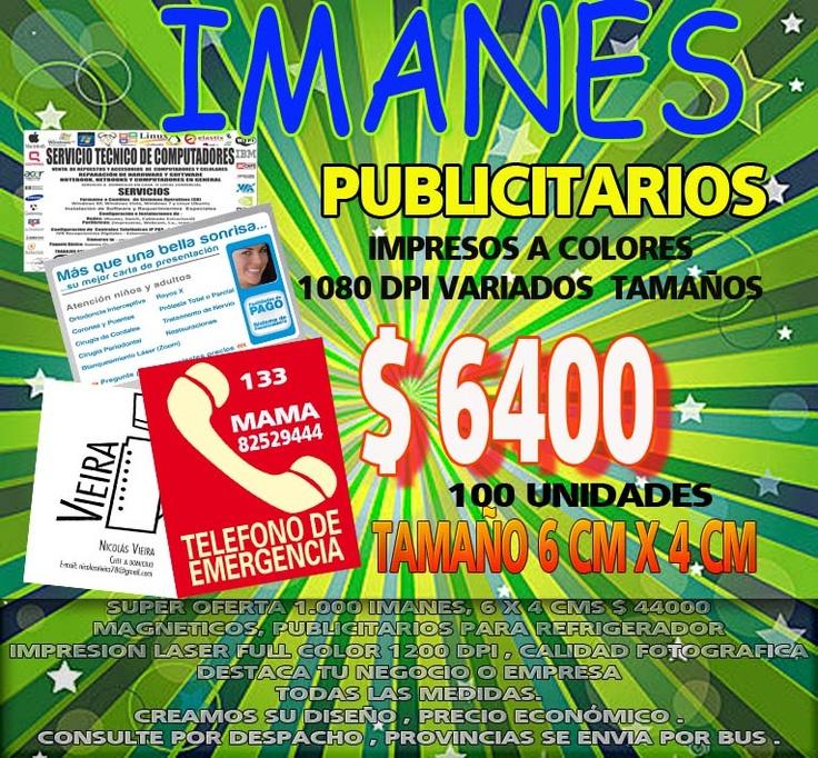 IMANES PUBLICITARIOS 6X4