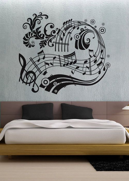 Music Notes uBer Decals Wall Decal Vinyl Decor Art by UberDecals