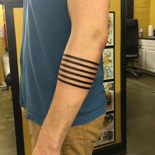 six lines armband tattoo altı çizgi kol bandı dövmesi