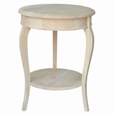 International Concepts Unfinished Wood Cambria Tall Accent Table-OT-18R-18 - The Home Depot