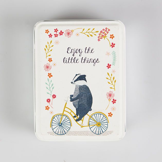 Enjoy the little things, and also enjoy the sight of a Badger riding a bike!
