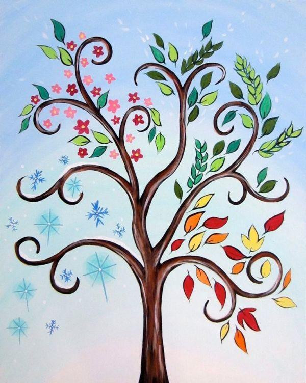 Картинка узорами дерева