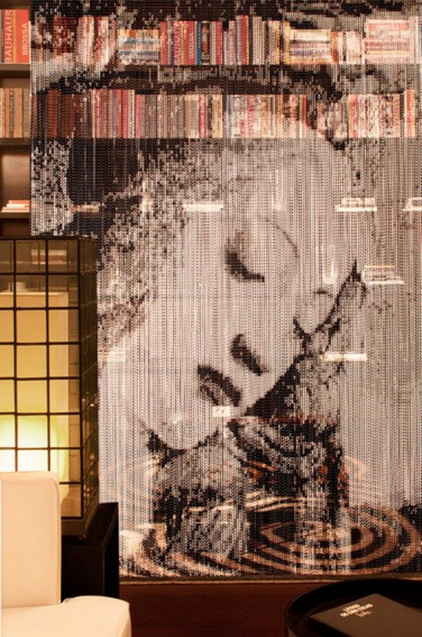 Classic (Copiar): Design Inspiration, Kriska Decor, Aluminium Chains, Black White, Kriskadecor Design, Art Curtains, Kriskadecor Launch, Mesh Curtains, Chains Art