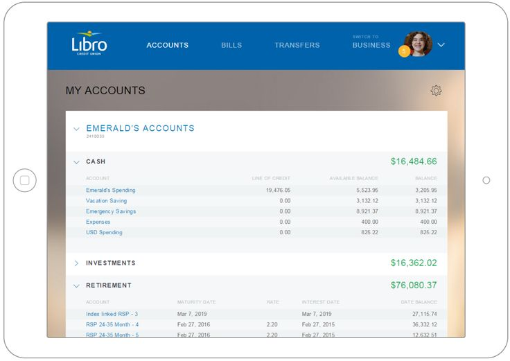 Online Banking | Libro Credit Union - digital, mobile, modern