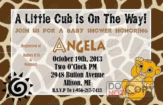 Baby Simba Baby Shower Invitation by MadeFromTheHeartxo on Etsy