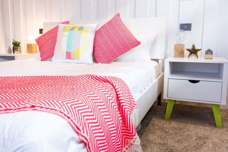 Jamie & Hayden's Guest Bedroom - The Block NZ 2015 - Visit http://curate.co.nz/featured/eye-spy-on-the-block-15 for links to the products seen on the show