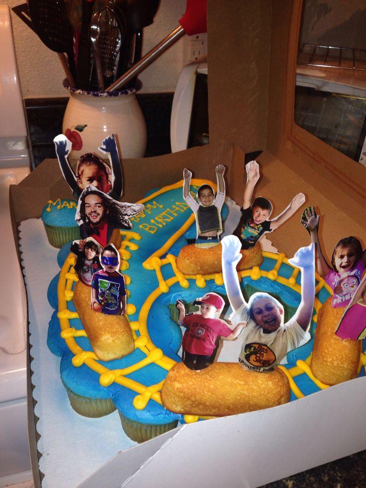 Roller Coaster cake/cupcakes